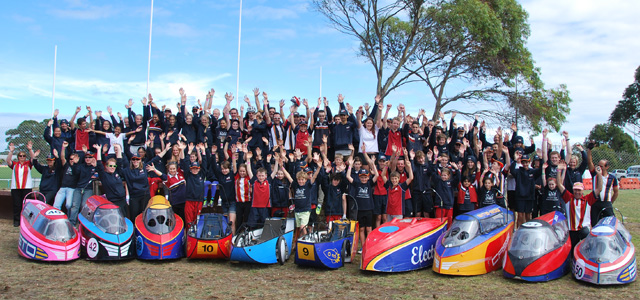 No team is complete without support! - Parents, riders and families of the St Margaret's and Berwick Grammar HPV Squad