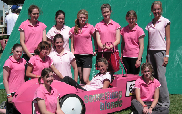 Start of an era: where it all began with Something Blonde in 2005 - St Margaret's first HPV team.