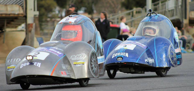 Cobden duo in action at the 2014 Bendigo HPV/EEV Grand Prix