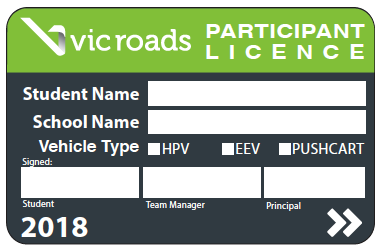VicRoads Participant Licence